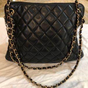 Chanel Mademoiselle Quilted Black  Shoulder Bag